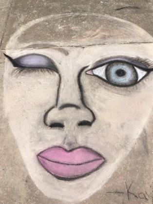 Art class chalk drawing 2